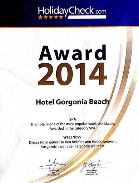 Gorgonia SPA - HolidayCheck Award 2014